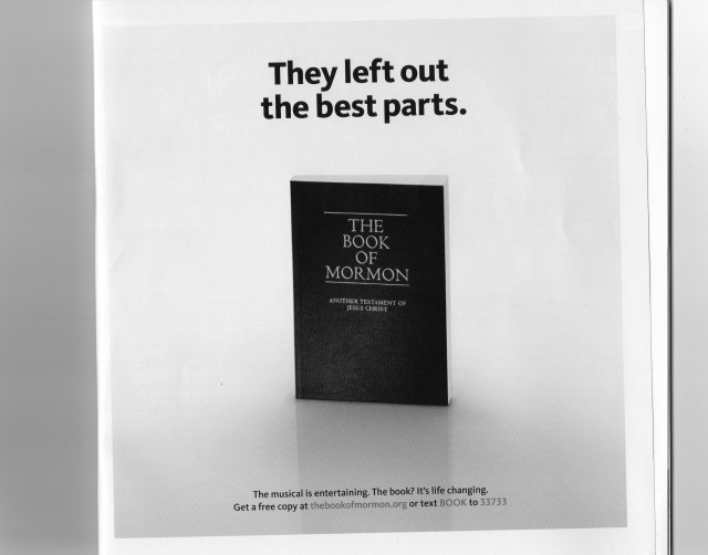 Book of Mormon advert