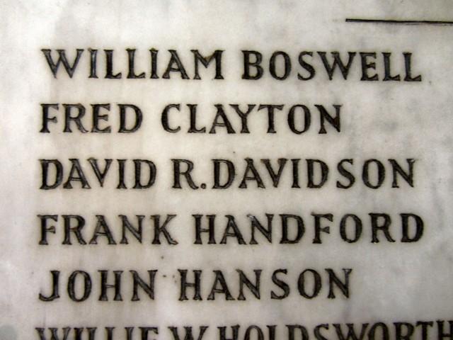 Hartshead memorial detail from Richard Burge