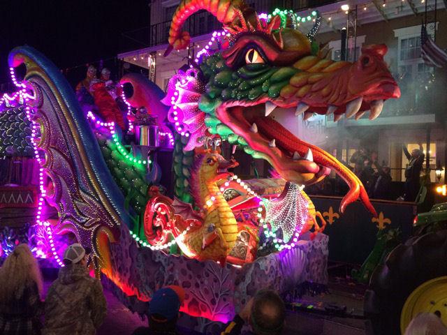 Mardi Gras Orpheus float