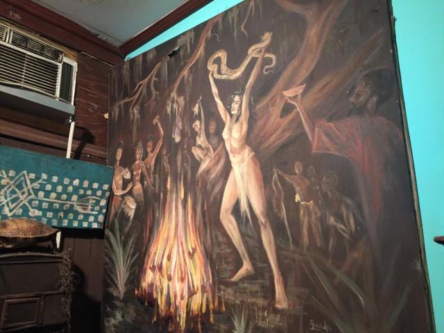 Mardi Gras Voodoo Museum priestess painting