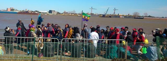 Mardi Gras Zulu crowd