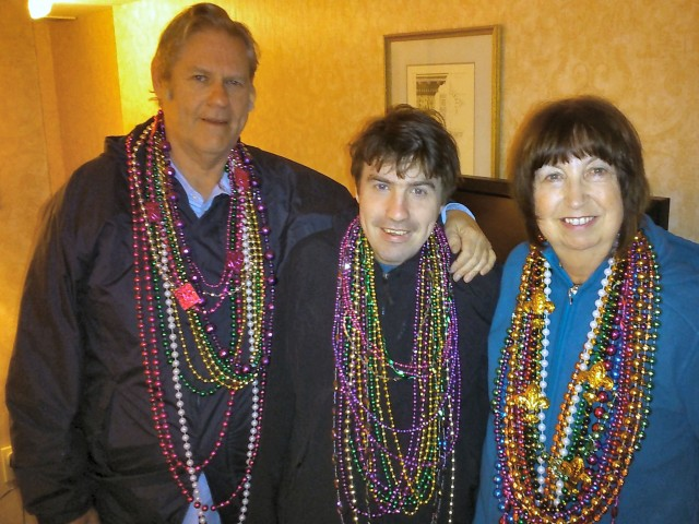 Mardi Gras trio in beads