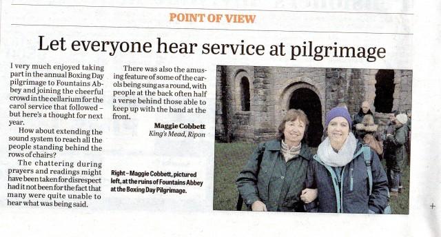 Ripon Gazette Point of View pilgrimage 2014